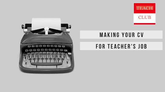 Resume CV For Teacher's job