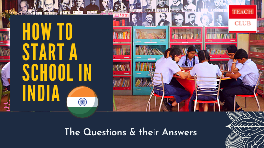 Start a school in india