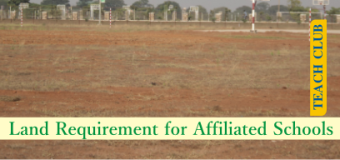 Land requirement for a CBSE / ICSE / State board affiliated School in India