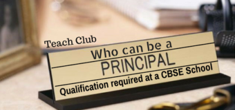 Qualification for a PRINCIPAL of a CBSE Affiliated School