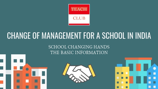 Sell Buy Change of Management CBSE School India