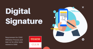 Digital Signature CBSE Affiliation